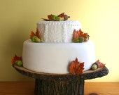 """11"""" x 13"""" Rustic wood Cake Stand READY TO SHIP with 2 day shipping"""