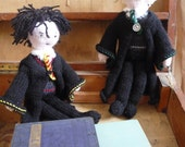 Harry Potter doll and Draco Malfoy doll knitting pattern PDF