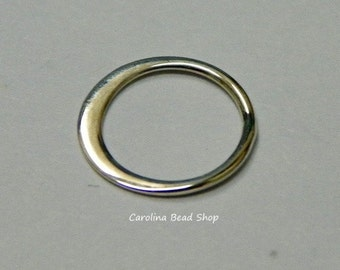 Extra-Small Sterling Silver Circle Link - 10PK - Connector Links, C2365