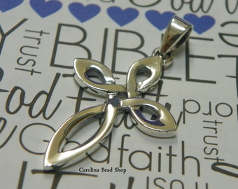 Sterling Silver Cross Pendant - Spiritual, Blessed, Faith