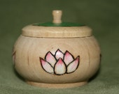 20% OFF Cool Little Lotus Pyrographed Wood Trinket Box