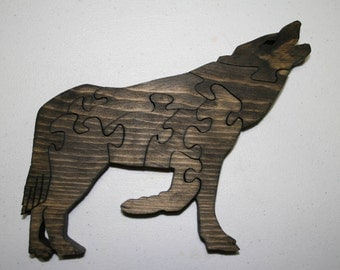 15% OFF Howling Wolf Wood Puzzle Dyed Pine