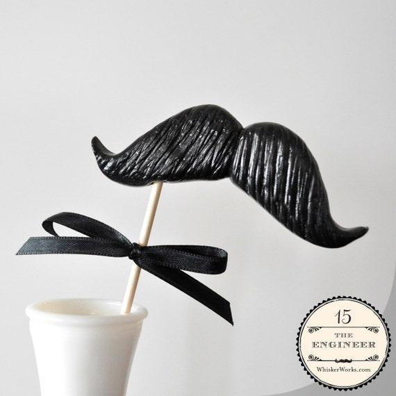 Mustache on a Stick - The Engineer - CHOOSE YOUR COLOR