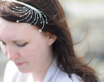 Bridal headband/tiara Sea wave