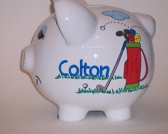 Piggy Bank Golf Personalized