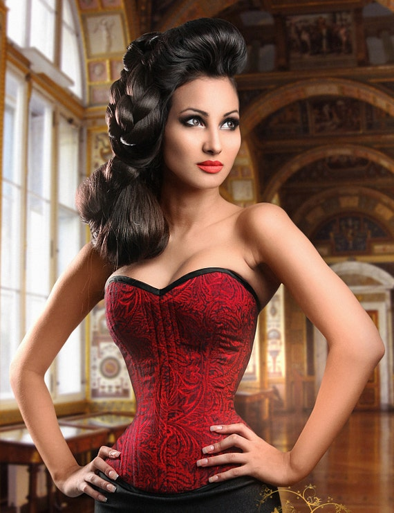 order NOW for Halloween Meschantes Ready to Wear Contessa Overbust Corset - Your Size Choose from over 300 fabrics