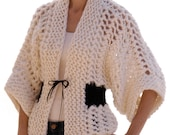 Instructions to make: the Openwork Kimono PDF Knitting Pattern