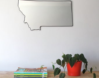 Montana Mirror / Montana Wall Mirror State Outline Silhouette MT Art Shape Decor Montana Shaped Wall Art