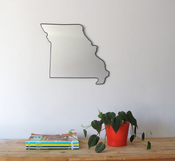 Missouri Mirror / Wall Mirror State Outline Silhouette MO Shape Wall Art