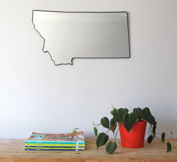 Montana Mirror / Montana Wall Mirror State Outline Silhouette MT Art Shape Decor Montana Shaped Wall Art