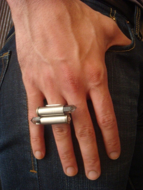 RESERVED 38 Special Bullet Quartz Crystal Ring