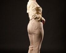 Vintage 1960s Rodeo Pants Suit - Rockabilly Vest - Lasso Western Wear Fashions
