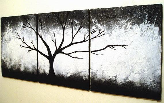 White on Black Canvas Paintings Canvas Art Black White