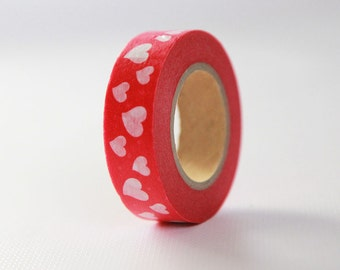 VALENTINE HEARTS Japanese Washi Tape- Single Roll 15mm