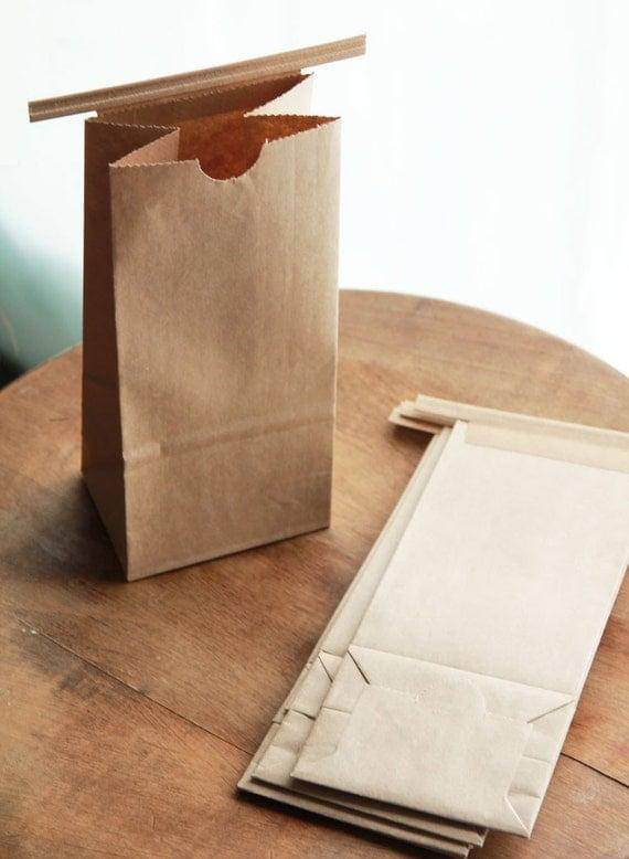 1/2 Pound Kraft Tin Tie Coffee Bags Set of 20