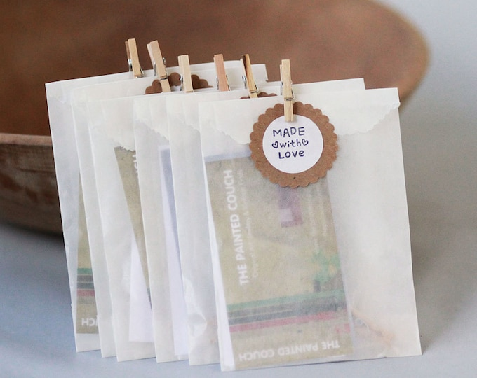 3 1/4 x 4 5/8 Glassine Bags set of 250 || Wedding Favor Bags, Treat Bags, Business Card Envelopes