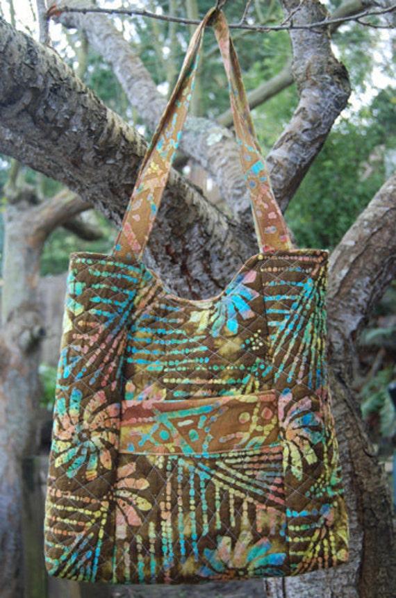 Handbag - Brown Batik