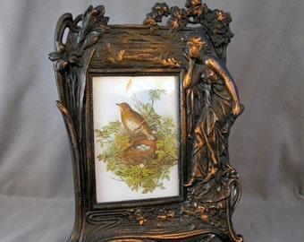 Vintage Art Nouveau Iron Frame