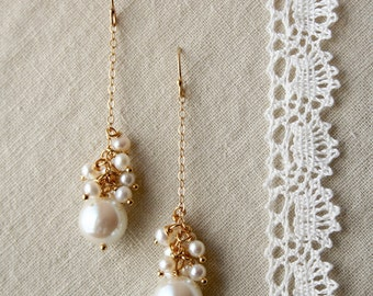 Pearl Drop Earrings, Bridal Jewelry, Wedding Earrings, Pearl Dangle Earrings, Bridal Earrings