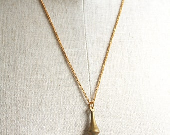 Spike Necklace, Layering Necklace, Hipster Jewelry, Brass Jewelry