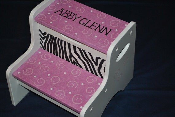 Step Stool Stool Kids Step Stool Hot Pink Zebra Striped