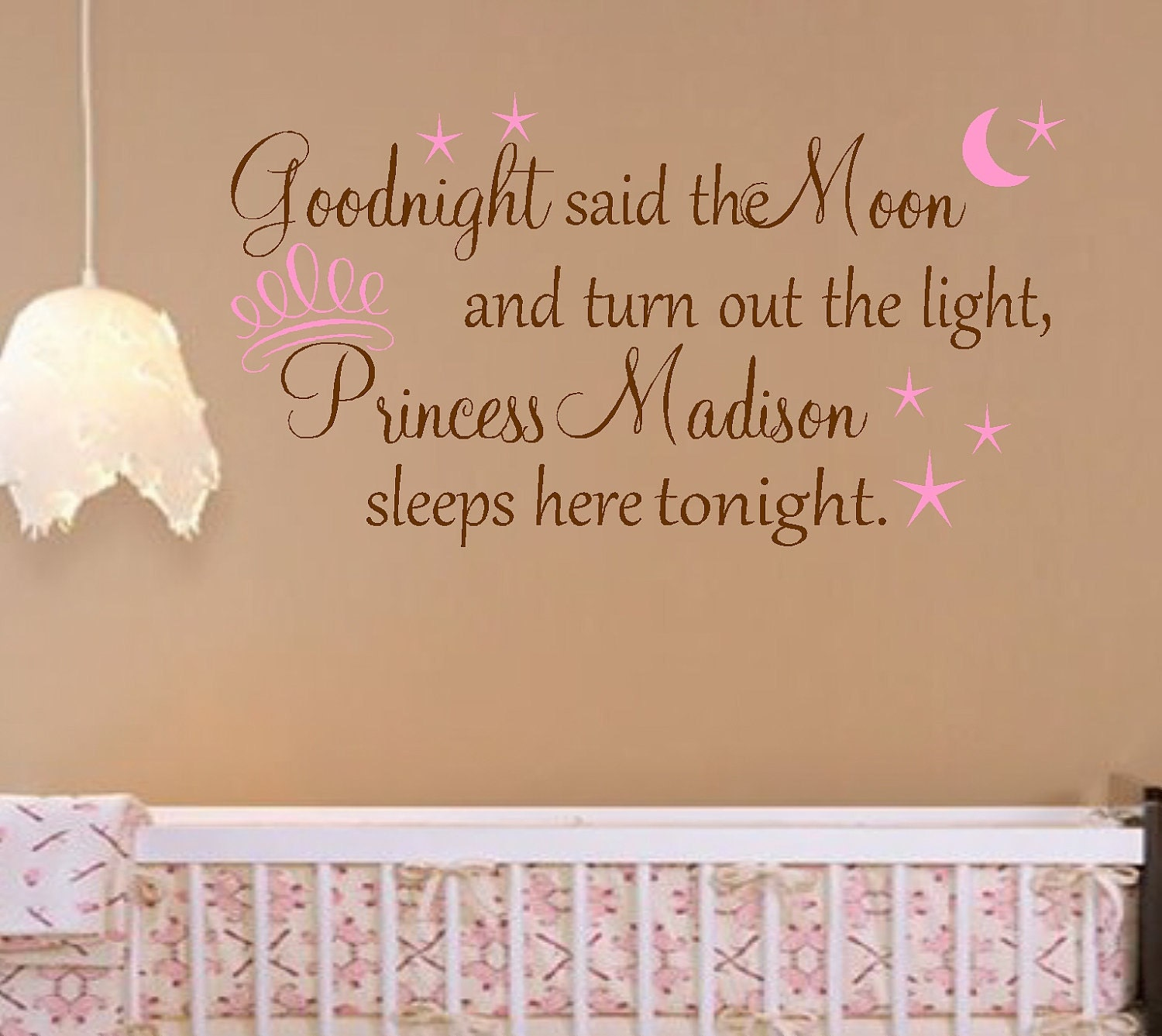Princess Girl Quotes: Personalized Princess Nursery Quote Vinyl Wall Decal Words