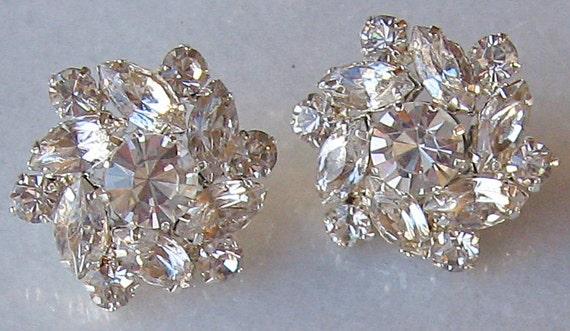 Crystal Rhinestone Earrings, Bridal Stud Earrings, Bridal Jewelry, Wedding Jewelry, Bridesmaid Earrings - CLAUDIA