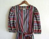 rainbow stripe dress, small medium