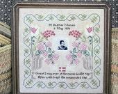 Great Grandma Dagmar's Birth Sampler