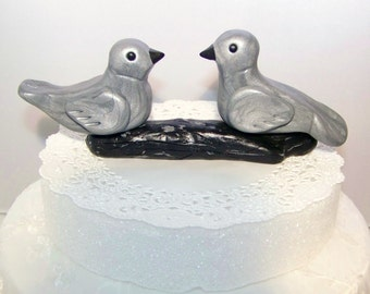 Custom Birds on Branch Cake Topper Wedding Decor