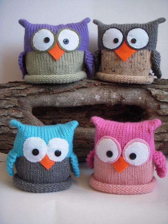 Knit Baby Owl Hat Newborn Knitted Photo Prop Any Custom