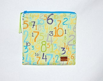Sandwich Size Reusable Bag - Just Numbers