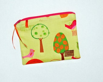 Snack Size Reusable Bag - Lolly Pop Trees and Birds