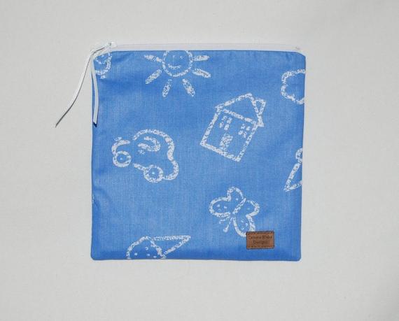 CLEARANCE - Sandwich Size Reusable Bag - Child's Play - Eco Friendly - Zippered Bag - Zipper Closure