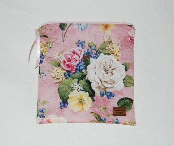 Reusable Sandwich Bag - Shabby and Chic Roses