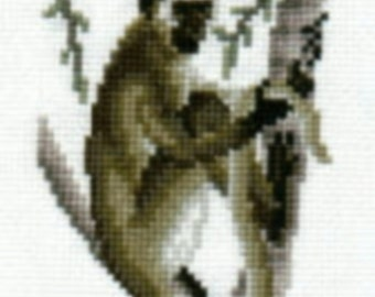 Vervet Monkey counted cross-stitch chart