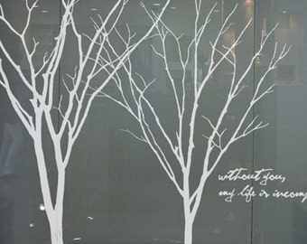 Branches in winter Wall Art Murals Removable Vinyl Wall Decals Paper Stickers