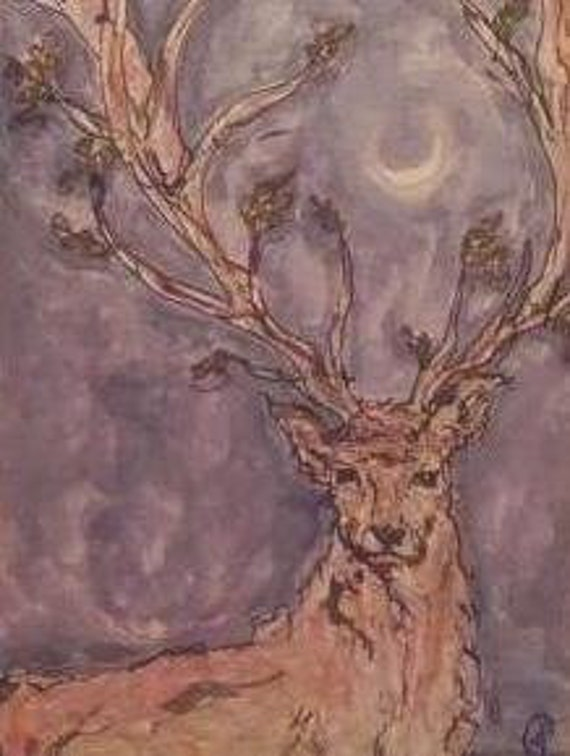 Thousand Pronged Antlers--original watercolor painting