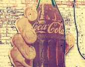 industrial decor coca cola sign photography Nashville art print vintage retro coke decor signage photograph print