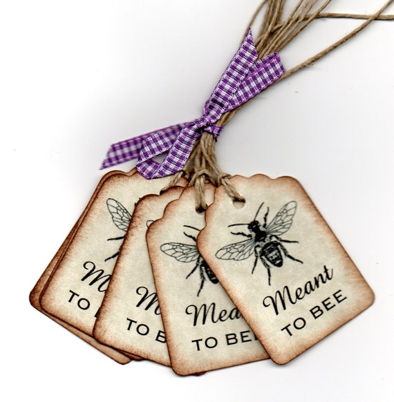 Gift Tags For Wedding Favors: Items Similar To 50 Wedding Favor Tags / Meant To Bee