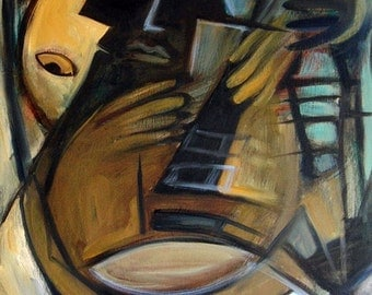 The Guitarist, limited edition giclee