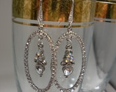 Handmade Rhinestone Bridal Wedding Chandelier Earrings