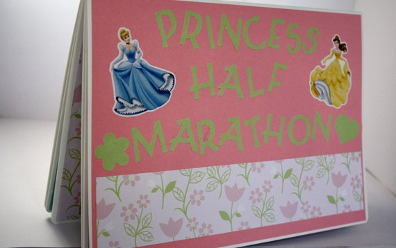 SALE Disney Princess Inspired Half Marathon Race Bib Scrapbook