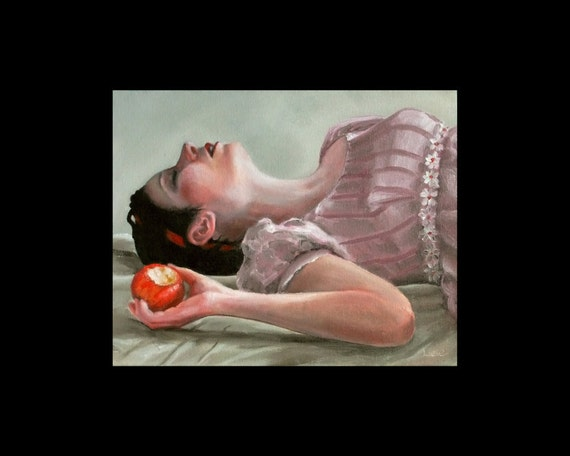 Snow White -- signed Print of an Original Oil Painting by Liese Chavez