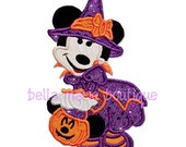 Limited Edition MINNIE HALLOWEEN WITCH boutique applique design