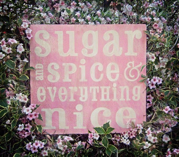 Sugar and Spice, 12x12 Weathered Wood Wall Art