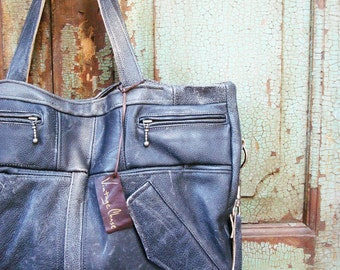 Black, Gray or Brown Leather Bag, Weekender Bag, Briefcase or Satchel from Vintage Leather