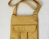CLOSING DOWN SALE-Organic and Fair Trade Cotton Canvas Cleis Body Cross Bag in Pebble