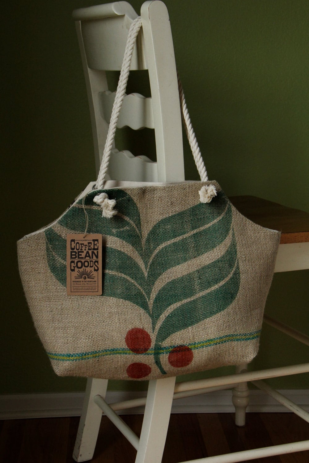 Recycled Burlap Coffee Sack Market Tote Brazil By