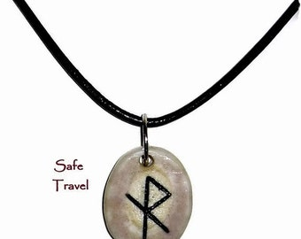 Safe Travel Bone Bind Rune Necklace